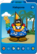 Halopona Player Card - Mid August 2019 - Club Penguin Rewritten