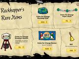Rockhopper's Rare Items