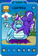 Lily8763cp Player Card - Mid February 2019 - Club Penguin Rewritten