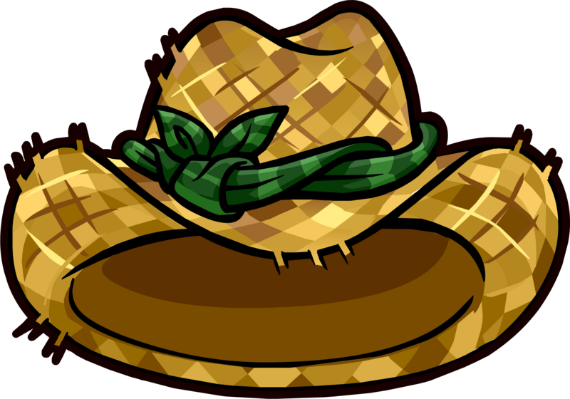 Image straw gardening hat club penguin rewritten wiki