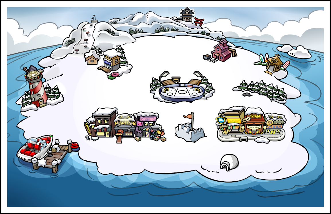 Image result for map of club penguin