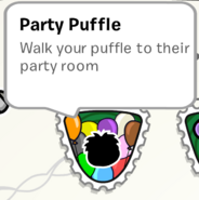 Party Puffle Stamp SB