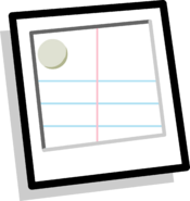 Lined Paper Background Icon