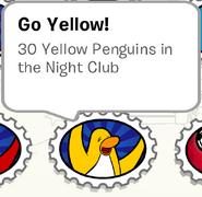 Go Yellow - Stamp Book - Club Penguin Rewritten