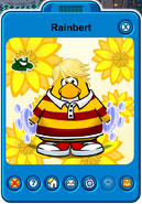 Rainbert Player Card - Late October 2019 - Club Penguin Rewritten (2)