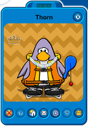 Thorn Player Card - Mid January 2019 - Club Penguin Rewritten