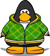 Green Crosshatched Hoodie PC