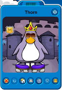 Thorn Player Card - Mid August 2019 - Club Penguin Rewritten
