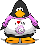 I Heart My Pink Puffle T-Shirt PC