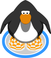 Orange Checkered Shoes IG