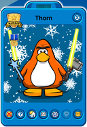 Thorn Player Card - Late November 2018 - Club Penguin Rewritten