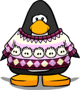 White Puffle Pullover PC