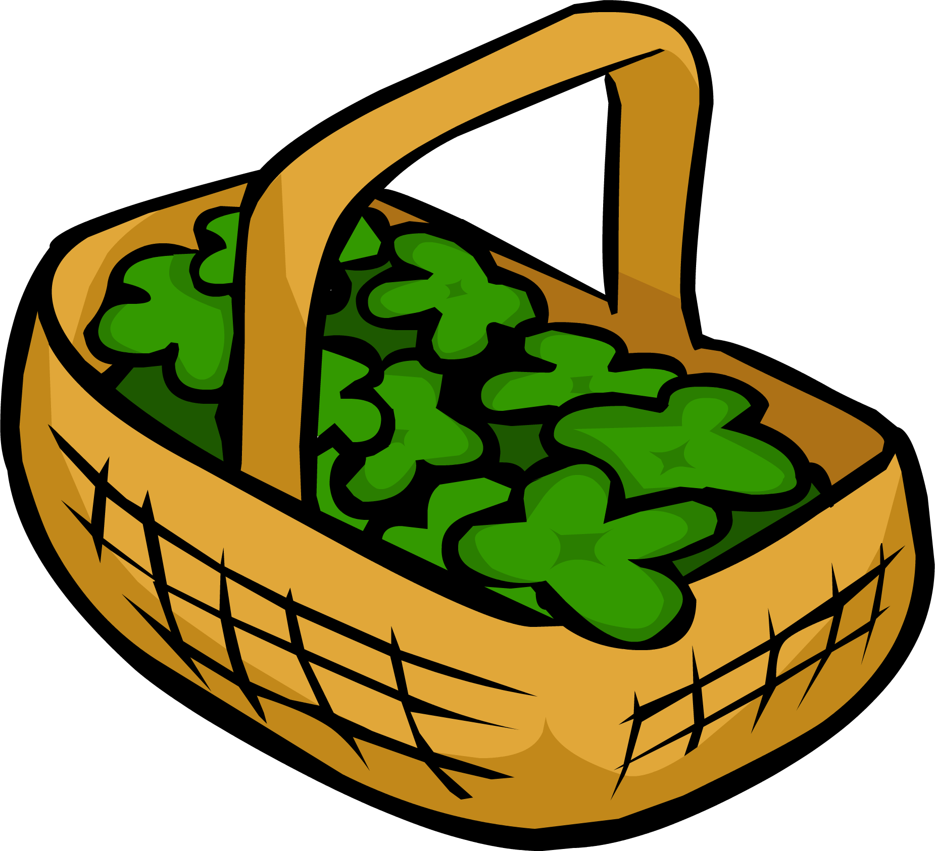 Clover Basket | Club Penguin Rewritten Wiki | Fandom
