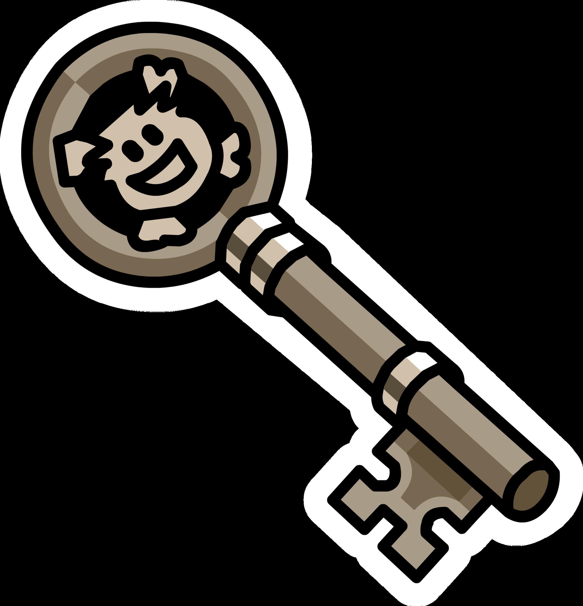 Rockhopper's Key Pin | Club Penguin Rewritten Wiki ...