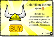 Gold Viking Helmet pop-up