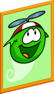 Green Puffle Poster sprite 001