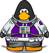Purple Space Suit from a Player Card