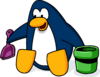 Sand Castle Penguin