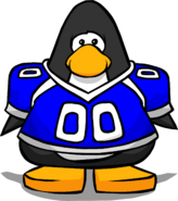 Blue Football Jersey from a Player Card