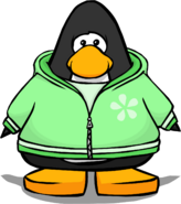 Green Zippered Hoodie PC