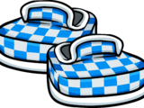 Blue Checkered Shoes