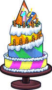 Club Penguin 12th Anniversary Party Cake