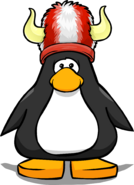 Red and White Fuzzy Viking Hat PC