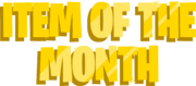 Item of the Month Logo