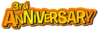 3rd Anniversary Party Logo