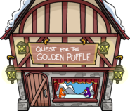Quest for the Golden Puffle Outside Medieval Party 2017