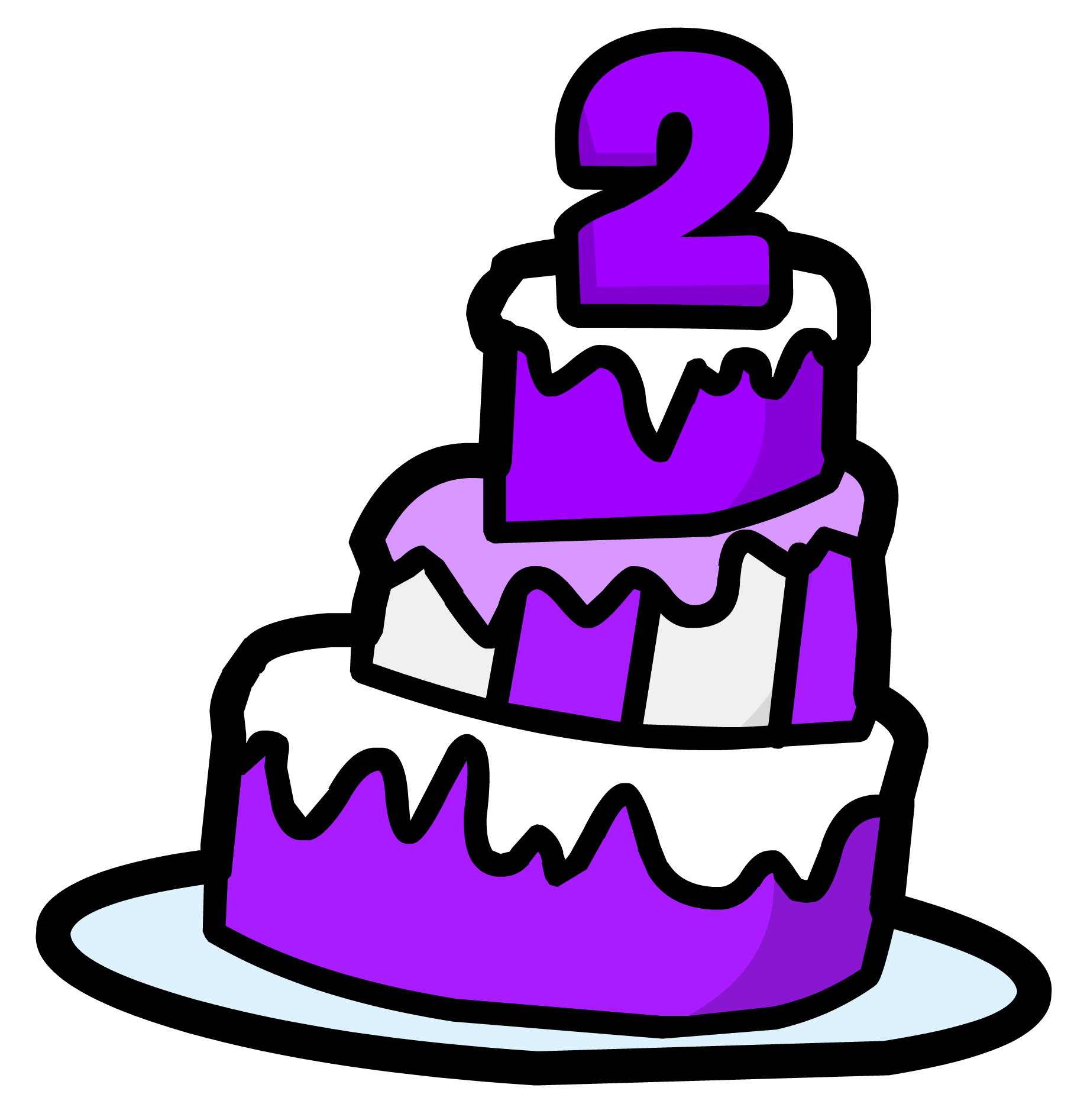 2nd Anniversary Cake Pin Club Penguin Rewritten Wiki Fandom