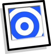 Blue Target Background Icon