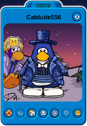Catdude556 Player Card - Late March 2020 - Club Penguin Rewritten