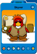Skyver Player Card - Early June 2019 - Club Penguin Rewritten