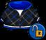 Blue Crosshatched Hoodie