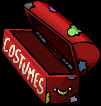 Costume trunk empty