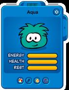 Aqua Puffle Card