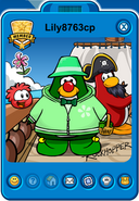 Lily8763cp Player Card - Mid March 2019 - Club Penguin Rewritten