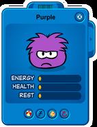 Low Purple Puffle Card