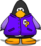 Purple Letterman Jacket PC