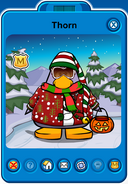 Thorn Player Card - Mid October 2018 - Club Penguin Rewritten