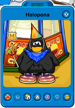Halopona Player Card - Late September 2019 - Club Penguin Rewritten