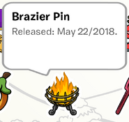 Brazier Pin on a Stampbook