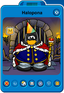 Halopona Player Card - Early August 2019 - Club Penguin Rewritten