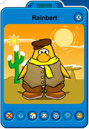 Rainbert Player Card - Mid June 2019 - Club Penguin Rewritten