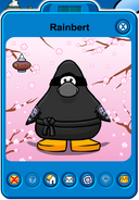Rainbert Player Card - Early May 2019 - Club Penguin Rewritten