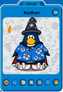 Aodhan Player Card - Mid August 2019 - Club Penguin Rewritten