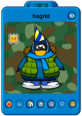 Hagrid Player Card - Early December 2018 - Club Penguin Rewritten