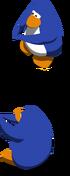 Old Blue Penguins in Sled Race
