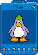 Thorn Player Card - Mid April 2019 - Club Penguin Rewritten